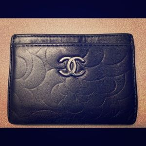 Chanel lambskin card holder
